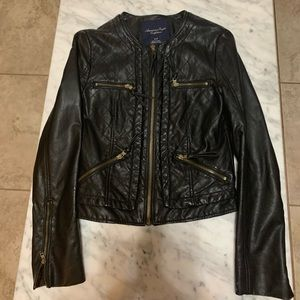 American Eagle Quilted Faux Leather Jacket
